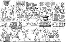 古埃及人制作面包