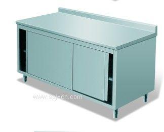 供應不銹鋼廚房設備靠背單通打荷臺