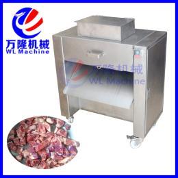 QG-300商用软骨禽类切块机 切鱼段机 带骨切丁机