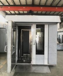 HQ-R200型上海合強不銹鋼桃酥餅熱風旋轉烤爐燃氣烤箱