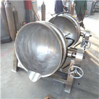 蒸汽夹层锅,全不锈钢可倾式锅