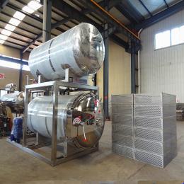 万兴700电加热供应豆干杀菌锅 高温蒸煮杀菌软包装 专业杀菌设备