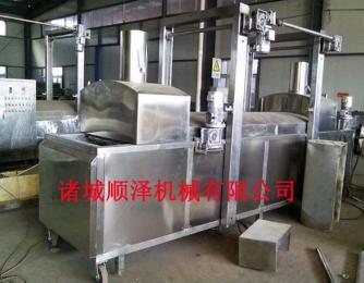 SZ-4000厂家直销 鱼豆腐油炸流水线 麻花油炸流水线 豆制品油炸生产线
