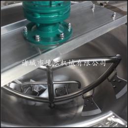DER-400L肉粽油饭蘸酱搅拌锅厂家供应电加热不锈钢夹层锅