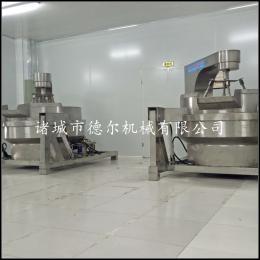 DER-1000L大型多爪炒酱机 电加热夹层锅 洋芋酱机花生酱搅拌夹层锅全304不锈钢