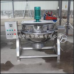 DER-500L大型猪头肉卤煮夹层锅厂家供应,电加热不锈钢304材质夹层锅