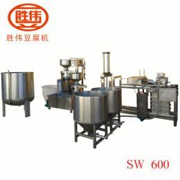 sw600勝偉全自動豆腐機不銹鋼千張機煮漿系統