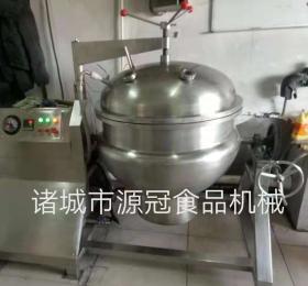 YGJZ-006厂家直销可倾式电加热夹层锅 搅拌夹层煮锅