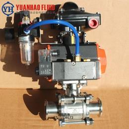 Q861F-10P气动球阀 三片式全包球阀 快装球阀