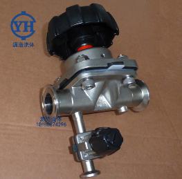 YHGMF-001不锈钢三通取样隔膜阀