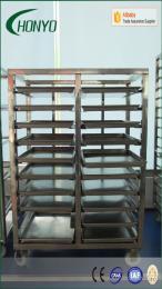 全304不锈钢多层可定做速冻库架车 ,烤盘架