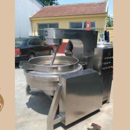 不銹鋼400L松香熬制夾層鍋 帶攪拌