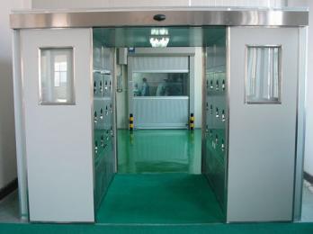 生产厂家直销不锈钢自动门单人三吹风淋室