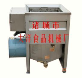 电加热油水混合自动出料油炸锅\小型油炸机械/油炸设备