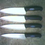 塑料柄纯钢屠宰刀具