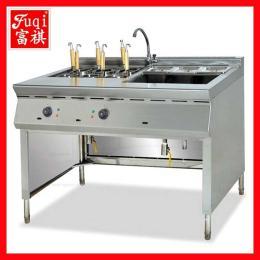 【广州富祺】厂价直销优质煮面炉 喷流式燃气煮面机带汤锅