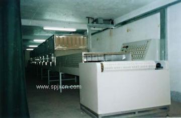 微波盒飯加熱殺菌設備,微波快餐盒飯殺菌體香機,微波中式快餐加熱機