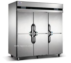 长沙酒店厨房专用6门双温冷冻冷藏柜