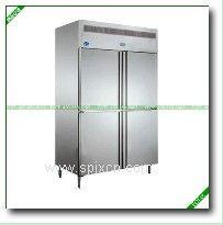 四门双温冷柜|北京厨房冰箱|厨房立式冷柜|不锈钢四门冷柜