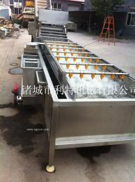 藕整套生产设备、莲藕加工生产线、藕片漂烫机