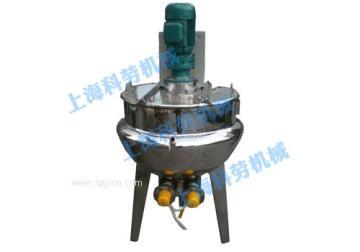 上海科劳-立式电加热带搅拌夹层锅