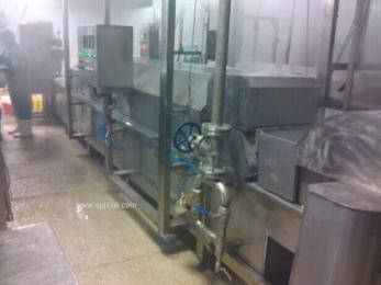 肉丸蒸煮流水线 日产10吨肉丸流水线 昊昌丸子流水线