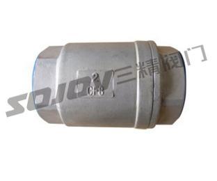 H12W不锈钢内螺纹立式止回阀