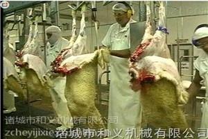和义HY羊气动松皮机 羊扒皮设备 羊屠宰线 羊仿欧线