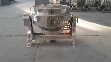火锅料刮底搅拌夹层锅,电加?#29123;?#23618;锅