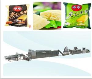 熱銷全自動麥圈夾心米果麥燒加工生產線
