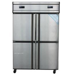 饭店厨房大冰箱,商用不锈钢冰箱,立式4门冷柜