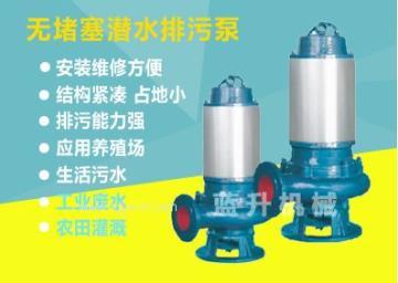 泰安蓝升牌不锈钢潜水排污泵304材质