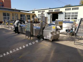 吉林肉饼油炸生产线