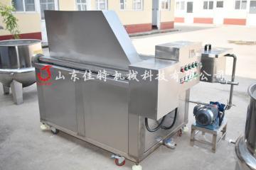 广东鱼皮油炸机 燃气自动搅拌油炸机