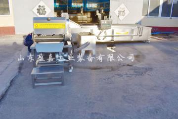 蘑菇漂烫生产线 连续式金针菇漂烫机