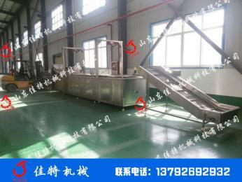 连续式江米条油炸流水线 自动刮渣油炸生产线