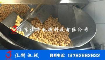 电加热豆泡油炸机 连续式油炸生产线
