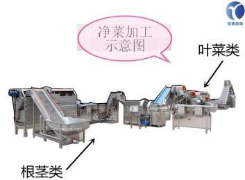新一代凈菜加工流水線廠家一站式采購 凈菜加工生產解決方案
