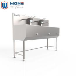 三工位不锈钢洗手池 厂房车间厨房 员工洗手池 卫生便捷