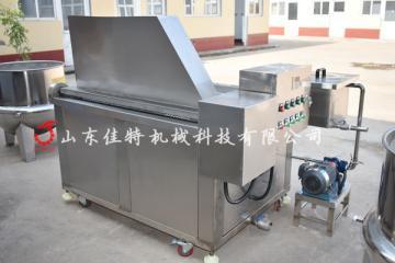 青岛肉脂渣油炸机 燃气连续式油炸机