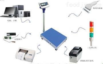 英展300公斤带打印电子称 英展落地台秤