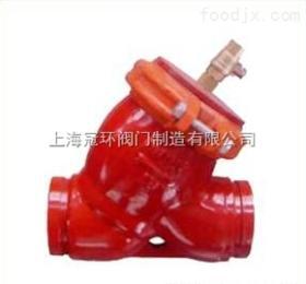 供应上海冠环DFSRY-16Q沟槽式卡箍Y型过滤器,上海阀门厂