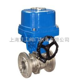 上海 电动O型切断球阀 --结构尺寸图--上海茸工阀门制造有限公司