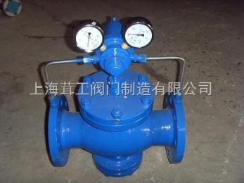 上海 先导活塞式气体减压阀 --结构尺寸图--上海茸工阀门制造有限公司