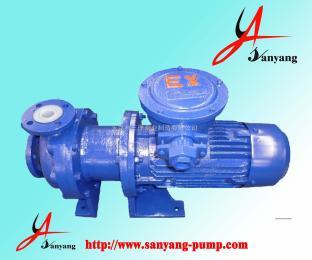 CQB80-65-125F磁力泵,CQB-F系列磁力驅動離心泵,臥式磁力泵,永嘉三洋泵業,磁力泵結構圖