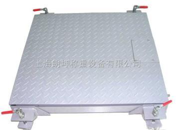 LK-SCS上海移动双层电子小地磅,0.5吨带轮子电子秤