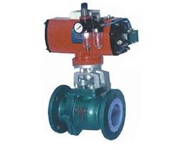 氣動氟塑料球閥,Q641F46氣動氟塑料球閥