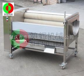 QX-612毛刷清洗去皮机 土豆 萝卜等物料 毛刷机