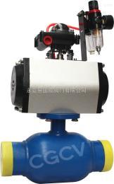 Q661F-16C气动焊接球阀DN80