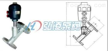 KST-46法兰式气动角座阀,不锈钢法兰式角座阀,通?#20113;?#21160;角座阀